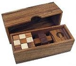 3 Wooden Puzzles Gift Set