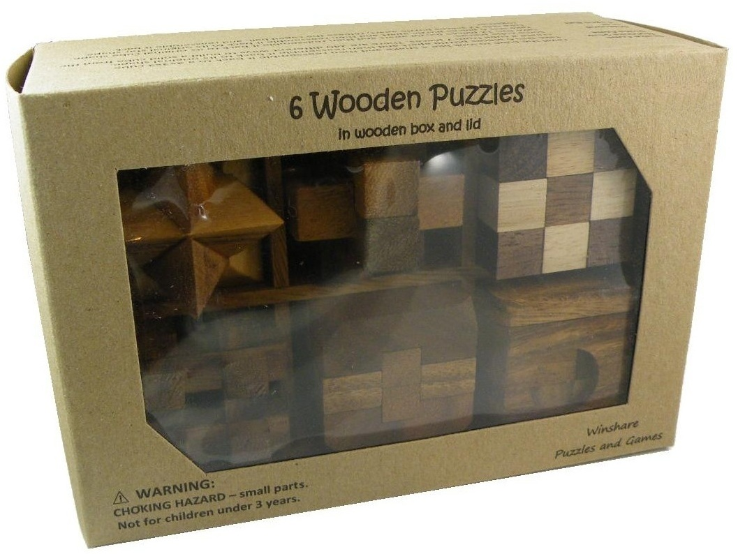 Wooden Puzzle Solutions 6 Pieces 6 Wooden Puzzle Gift Set