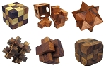6 Wooden Puzzles Gift Set w/o Tray