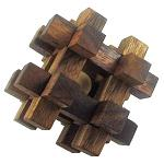 Caged Ball Wooden Brain Teaser Puzzle