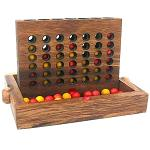 Connect Four  - Wooden Strategy Game