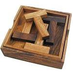 Four T's Wooden Puzzle Brain Teaser