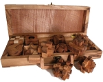12 Wooden Puzzles Set In Wooden Suitcase