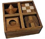 5 Wooden Puzzles Gift Set