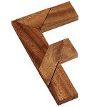 F Puzzle Wooden Brain Teaser