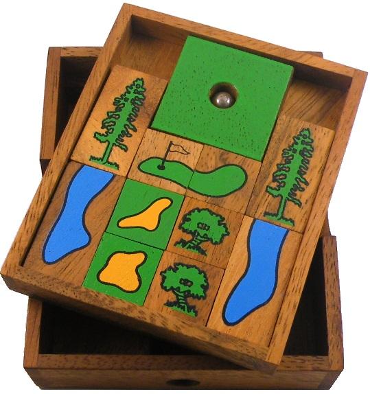Golf Field Wooden Puzzle Brain Teaser