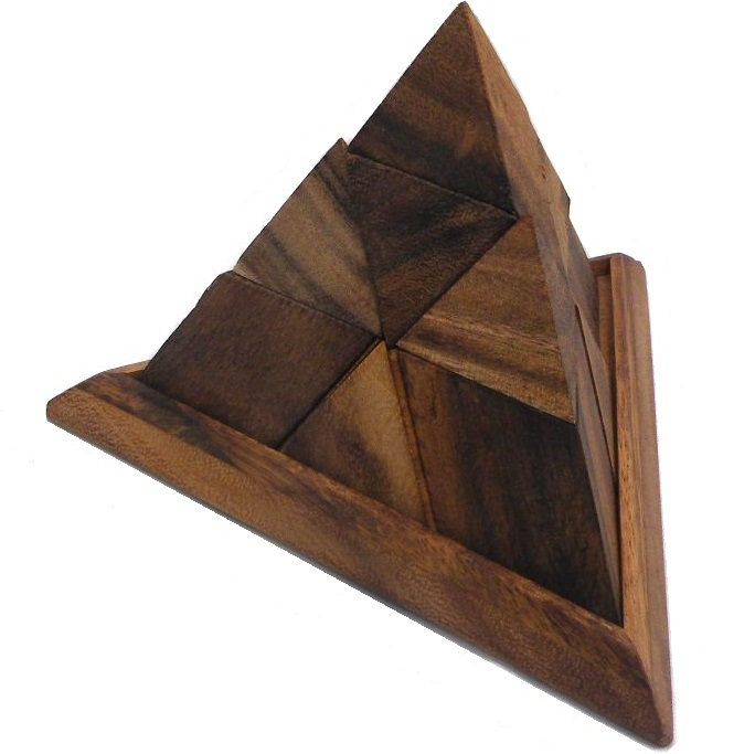 Luxor Pyramid - Wooden Puzzle Brain Teaser