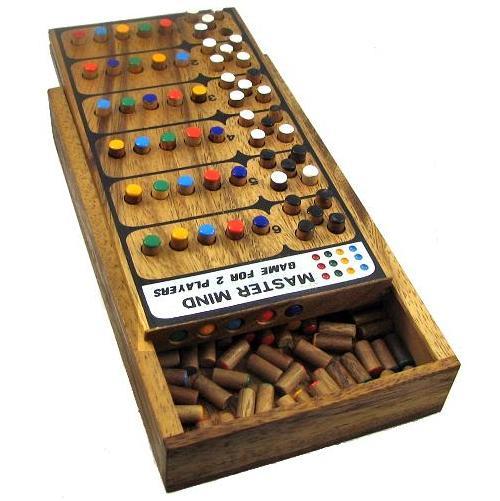 Mastermind Wooden Brain Teaser Game Classy Wooden Mastermind Game