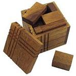 Square Packing Challenge - Brain Teaser Wooden Puzzle