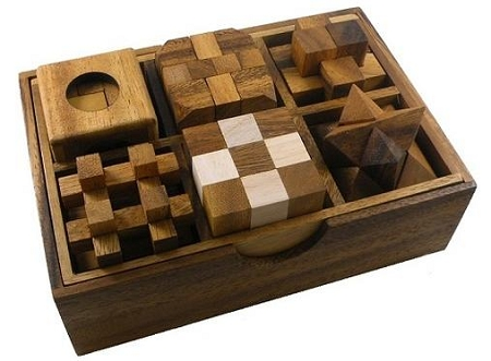 6 Wooden Puzzle Gift Set