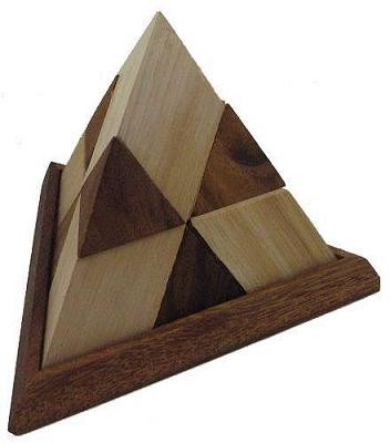 14 Pieces Pyramid - Wooden Brain Teaser Puzzle