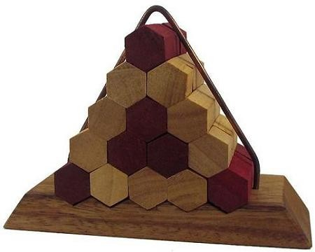 Beehive Pyramid Wooden Puzzle Brain Teaser