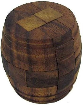 Beer Barrel Antique Style - Brain Teaser Wooden Puzzle