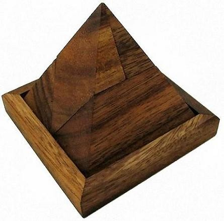 5 Piece Pyramid - Wooden Brain Teaser Puzzle