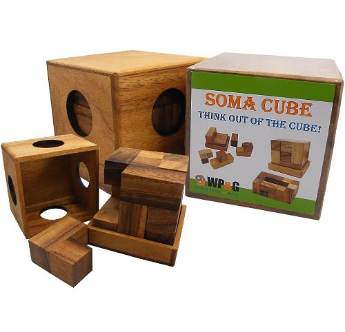 Soma Cube (Large) - Brain Teaser Wooden Puzzle