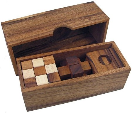 3 Wooden Puzzle Gift Set