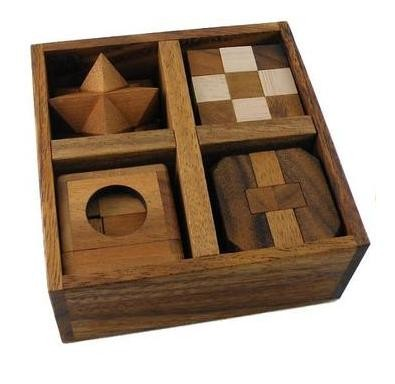 5 Wooden Puzzle Gift Set
